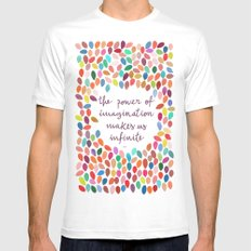 Imagination by Anna Carol & Garima Dhawan MEDIUM White Mens Fitted Tee