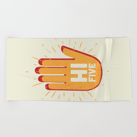 Hi five Beach Towel