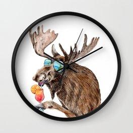 Moose on Vacation Wall Clock