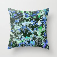 jay fleck Throw Pillows featuring Crystal Fleck by Mia Felce