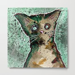 Turtle the turtle shell zombie kitten Metal Print