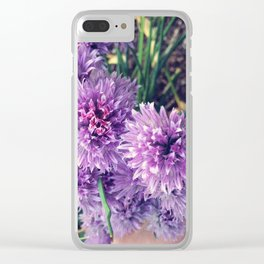 Chive Blossom Bouquet Clear iPhone Case