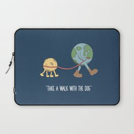 take a walk with the dog Laptop Sleeve