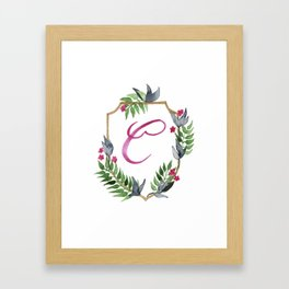 Jungle Gold Monogram Crest C Framed Art Print
