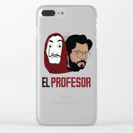 LA CASA DE PAPEL tee shirt El Peofesor Clear iPhone Case