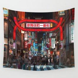 Shinjuku Night Walks Wall Tapestry