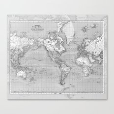 Atlas of the World Canvas Print
