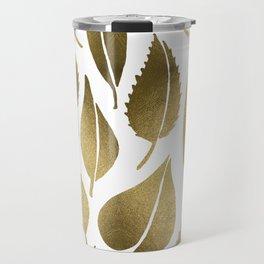 Cascading Leaves – Gold Palette Travel Mug