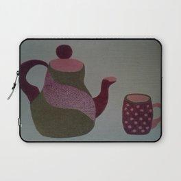 Modern Tea Set Laptop Sleeve