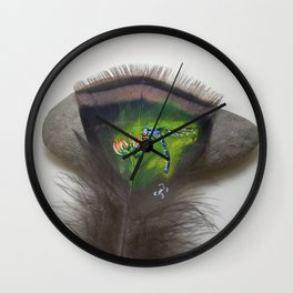 Blue Damselfly Wall Clock