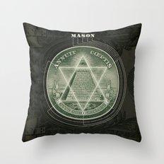 One Dollar Conspiracy Throw Pillow