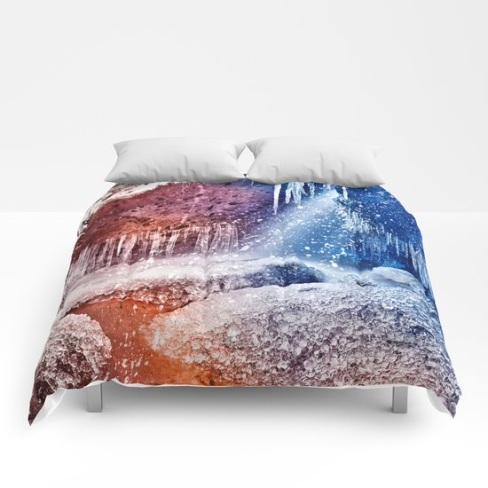 Acrylic Winter Stream Comforters
