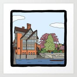 Cambridge struggles: Trinity Hall College Art Print
