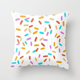Sprinkles on frosting Throw Pillow