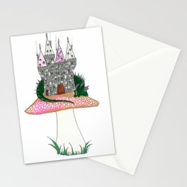 Tiny Kingdom with Green Sleeping Dragon Stationery Cards