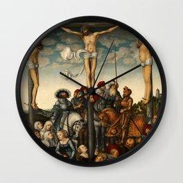 "Lucas Cranach the Elder ""Crucifixion"" Wall Clock"