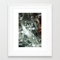 transparent Framed Art Prints featuring Transparent by Shannice Wollcock