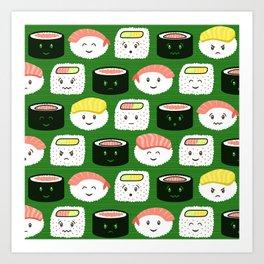 Yatta, Sushi! Art Print
