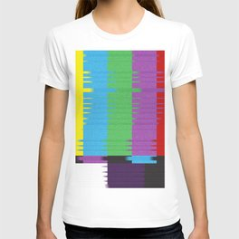 color tv bar#glitch#effect T-shirt