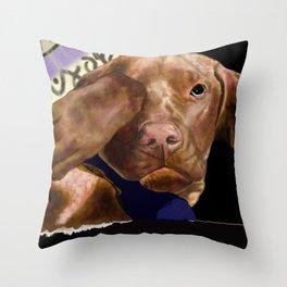 Bashful Vizsla Throw Pillow