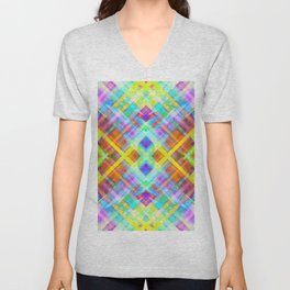 Colorful digital art splashing G71 Unisex V-Neck
