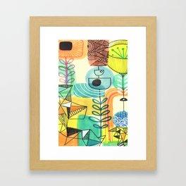 Sketchbook art Retro Design Framed Art Print
