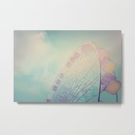 Into the Sky Ferris Wheel Metal Print