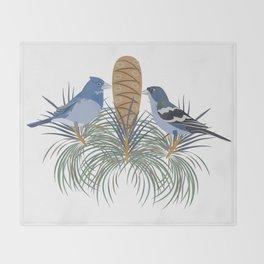 Blue Chaffinch Throw Blanket