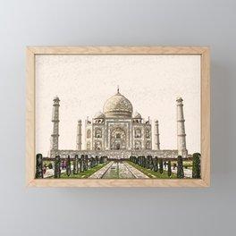 ArtWork Taj Mahal India Paint Painting Framed Mini Art Print