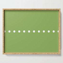 Dots Green Serving Tray