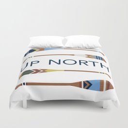 Up North Oars Duvet Cover