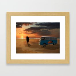 California surfing Framed Art Print