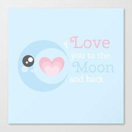 Moon Heart Canvas Print