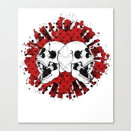 Grunge Screaming Skulls Canvas Print