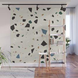 Bluestone Eden Green Black Terrazzo #1 #decor #art #society6 Wall Mural