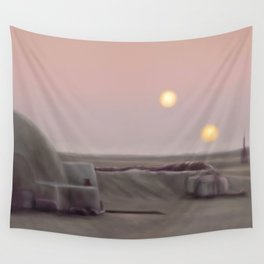 Twin Suns Dessert Wall Tapestry