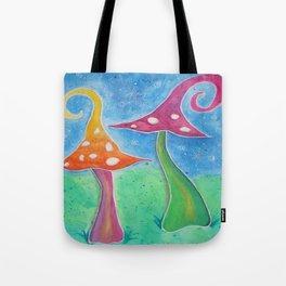 Whimsical Watercolour Mushrooms Tote Bag