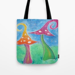 Whimsical Watercolour Mushrooms Tote Bag