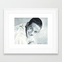 chad wys Framed Art Prints featuring Chad Green by emilypaints