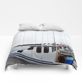 Lobster Boat Line-up Comforters
