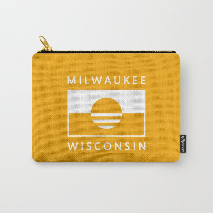 Milwaukee Wisconsin - Gold - People's Flag of Milwaukee Carry-All Pouch