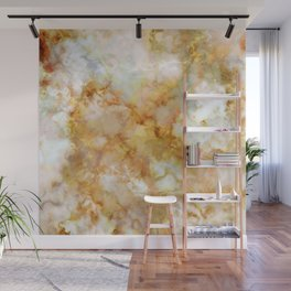 Gold Rippled Marble Wall Mural