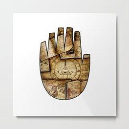 Bill's Hand Metal Print