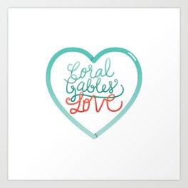 Coral Gables Love Art Print