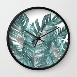 tropical blue Wall Clock