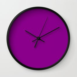 Dark magenta plain color Wall Clock