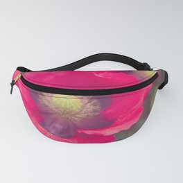 Electric Pink Poppies X Botanical Art Fanny Pack