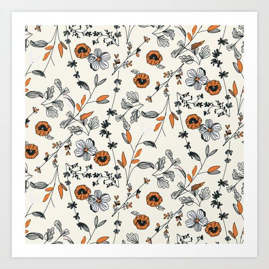 Floral pattern Flowers Art Print