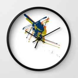 Print man on skis Wall Clock