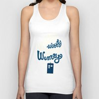 risa rodil Tank Tops featuring Wibbly Wobbly Timey Wimey by Risa Rodil